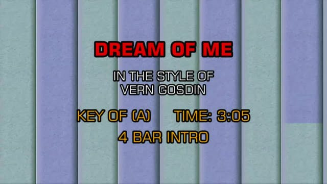 Vern Gosdin - Dream Of Me