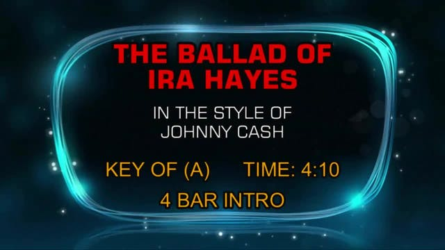 Johnny Cash - Ballad Of Ira Hayes, The