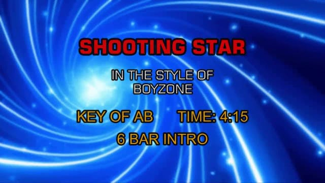 Boyzone - Shooting Star