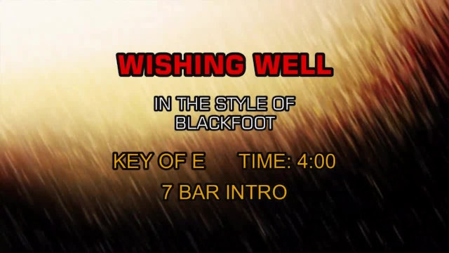 Blackfoot - Wishing Well