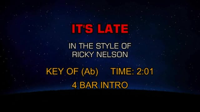 Ricky Nelson - It's Late