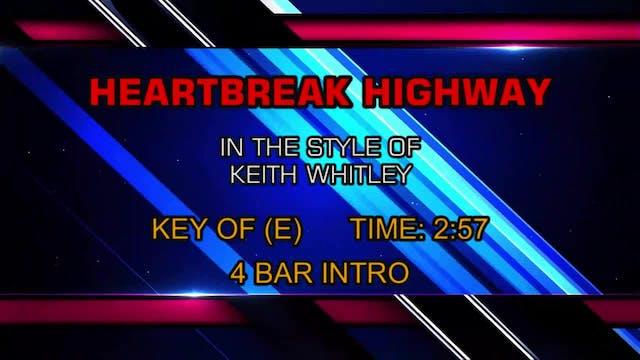 Keith Whitley - Heartbreak Highway