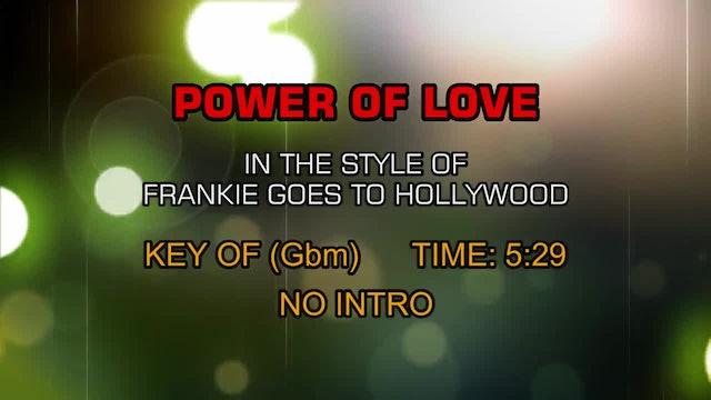 Frankie Goes To Hollywood - Power Of Love