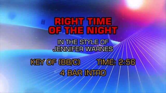 Jennifer Warnes - Right Time Of The N...