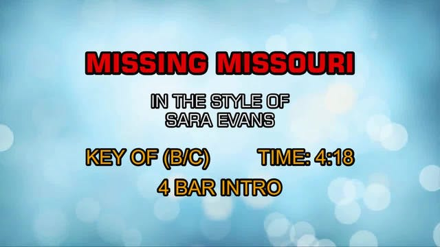 Sara Evans - Missing Missouri