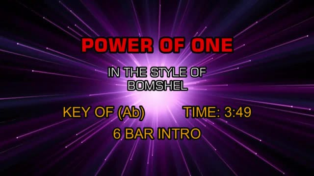 Bomshel - Power Of One