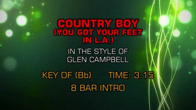 Glen Campbell - Country Boy (You Got ...