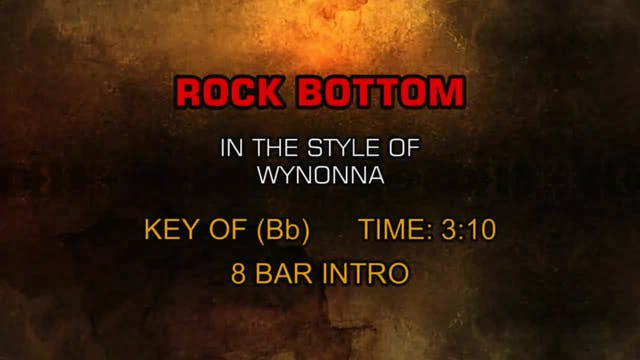 Wynonna - Rock Bottom
