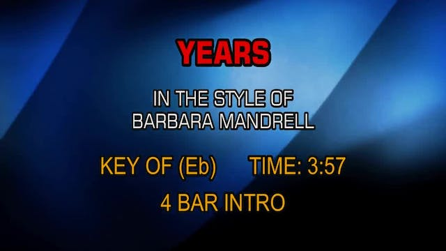 Barbara Mandrell - Years