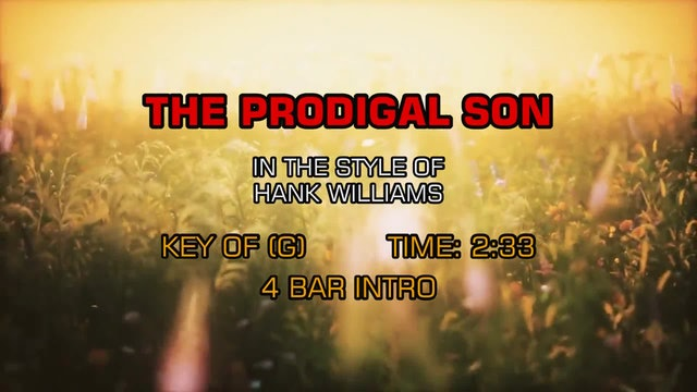 Hank Williams - The Prodigal Son