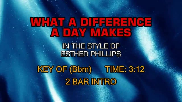 Esther Phillips - What A Difference A...