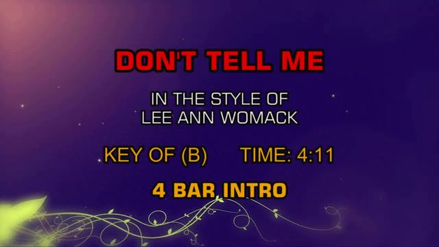Lee Ann Womack - Don't Tell Me