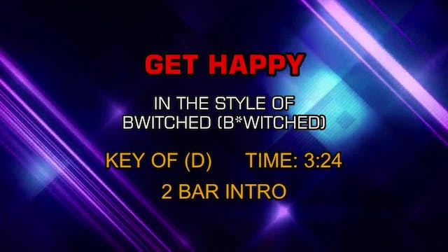 Bwitched - Get Happy