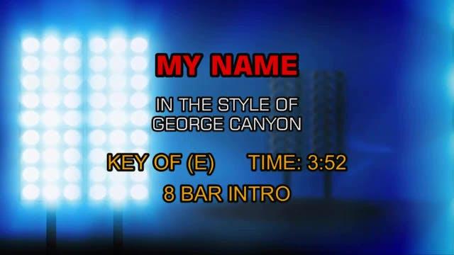 George Canyon - My Name