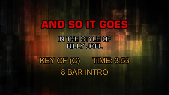 Billy Joel - And So It Goes