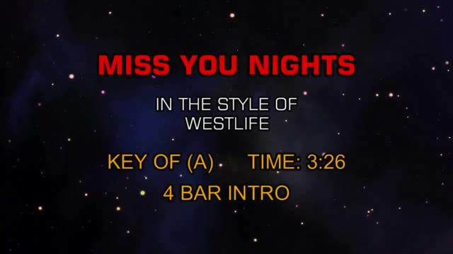 Westlife - Miss You Nights