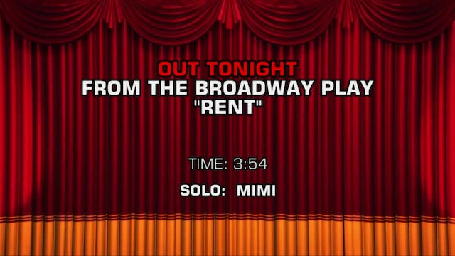 Songs From Rent - Out Tonight
