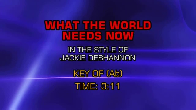 Jackie DeShannon - What The World Needs Now