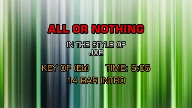 Joe - All Or Nothing