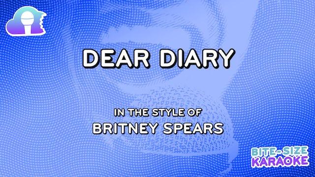 BSK - Dear Diary - Britney Spears