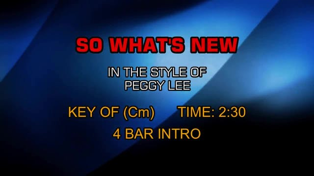 Peggy Lee - So What's New