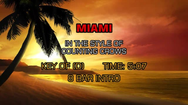 Counting Crows - Miami