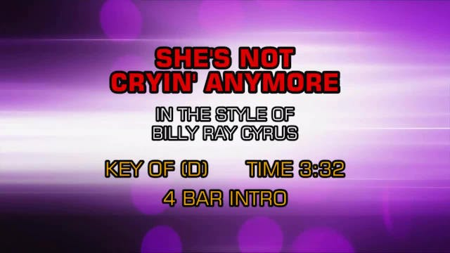 Billy Ray Cyrus - She's Not Crying An...