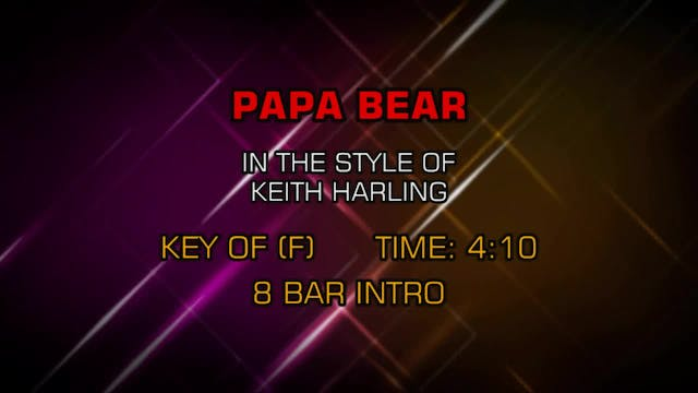 Keith Harling - Papa Bear