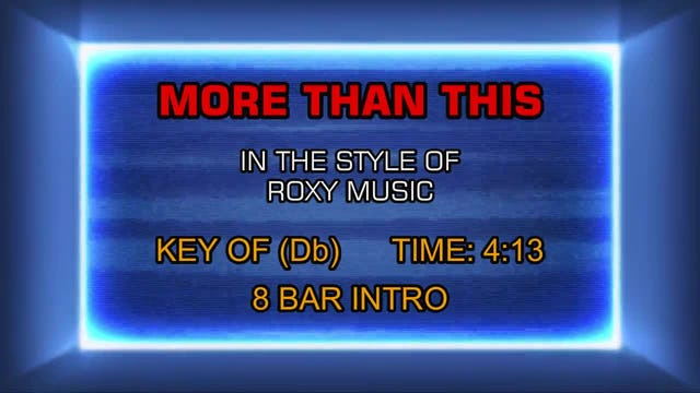 Roxy Music - More Than This
