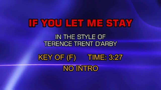 Terence Trent D'arby - If You Let Me ...