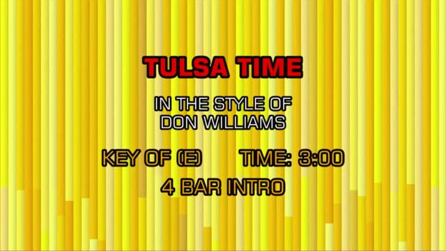 Don Williams - Tulsa Time