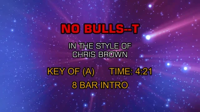 Chris Brown - No Bulls--t