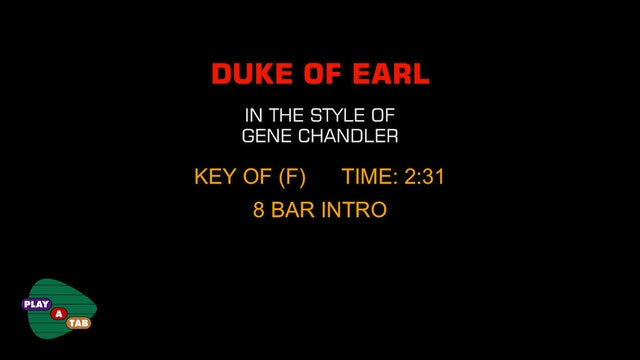 Gene Chandler - Duke Of Earl - Play A Tab