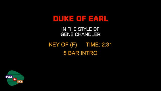 Gene Chandler - Duke Of Earl - Play A...