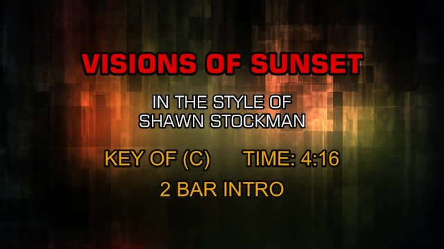 Shawn Stockman - Visions Of Sunset