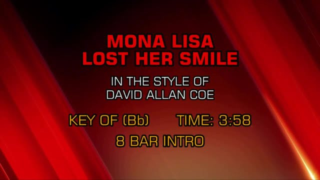 David Allan Coe - Mona Lisa Lost Her ...