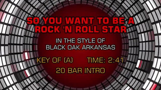 Black Oak Arkansas - So You Want To B...