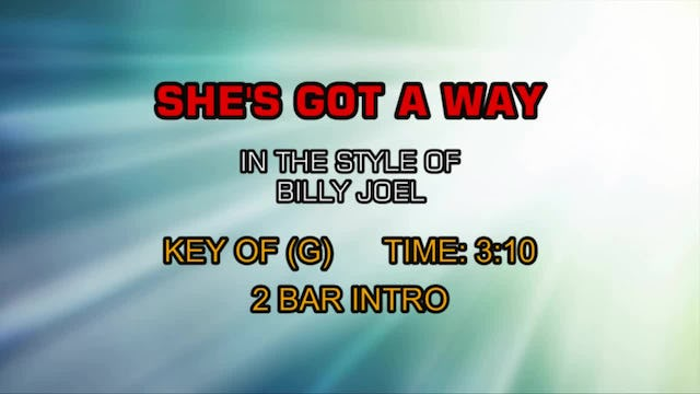 Billy Joel - She's Got A Way
