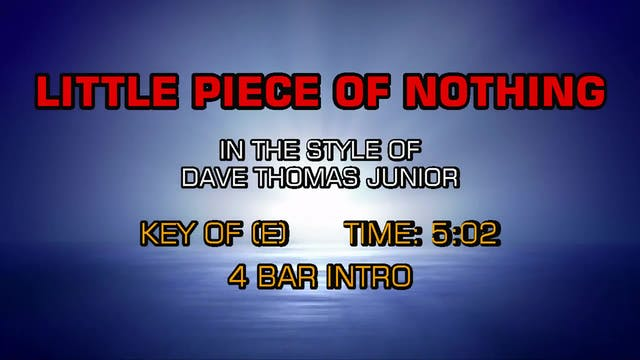 Dave Thomas Junior - Little Piece of ...