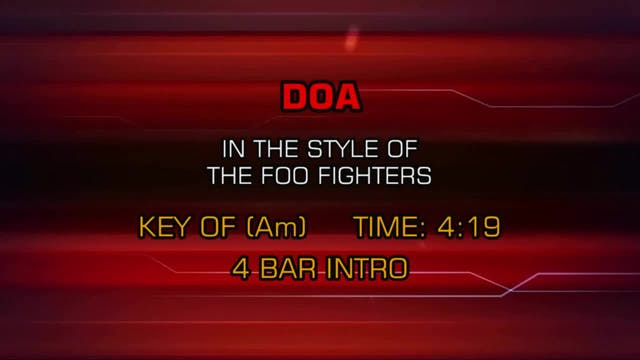 The Foo Fighters - DOA