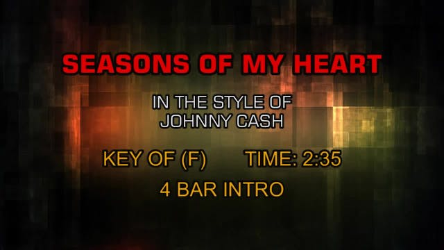 Johnny Cash - Seasons Of My Heart