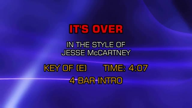 Jesse McCartney - It's Over