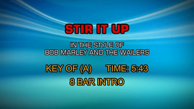 Bob Marley And The Wailers - Stir It Up