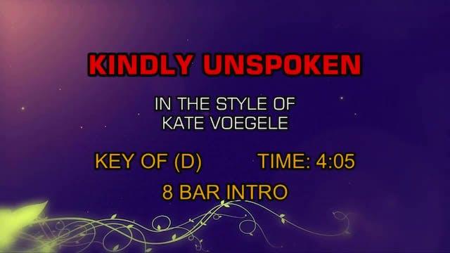 Kate Voegele - Kindly Unspoken