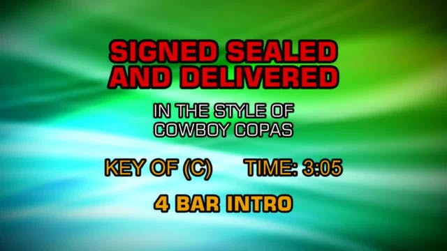 Cowboy Copas - Signed Sealed And Deli...