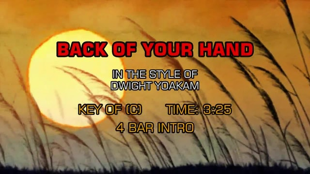 Dwight Yoakam - Back Of Your Hand