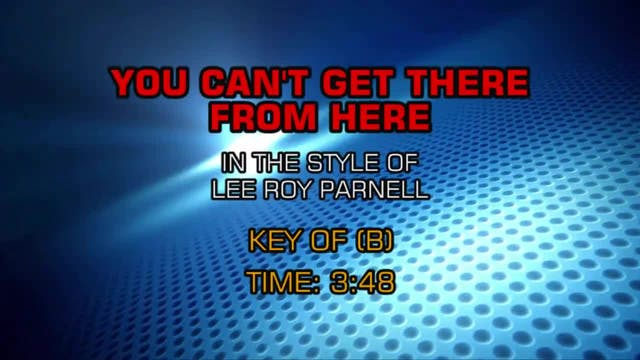Lee Roy Parnell - You Can't Get There...