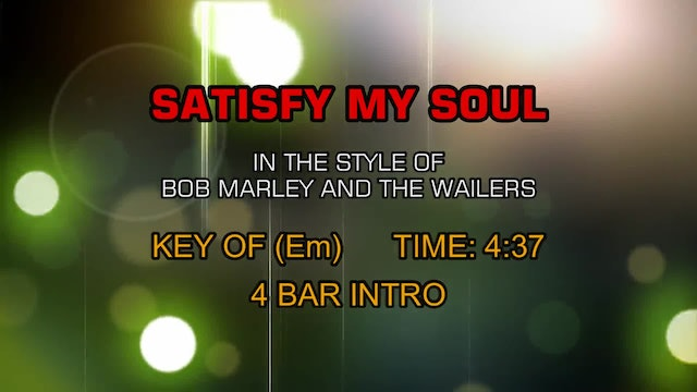 Bob Marley And The Wailers - Satisfy My Soul