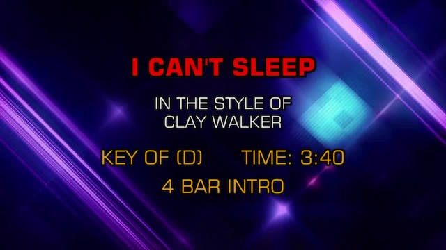 Clay Walker - I Can't Sleep