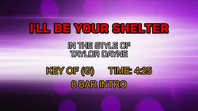 Taylor Dayne - I'll Be Your Shelter